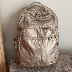 Kipling Metallic Gold Backpack